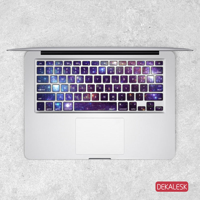 Purple Nebula - MacBook Keyboard Stickers - DEKALESK