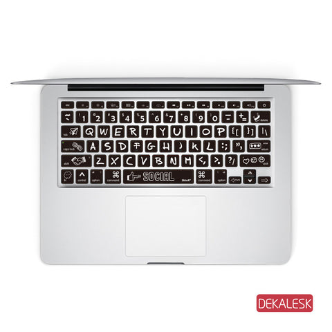 Social  - MacBook Keyboard Stickers - DEKALESK