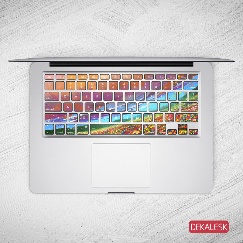 Alaskan Flowers - MacBook Keyboard Stickers - DEKALESK