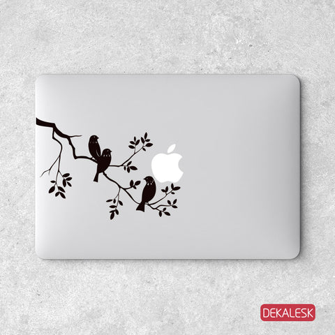 Birds On A Tree - MacBook Decal - DEKALESK