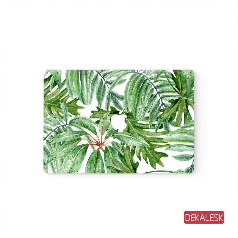 Leaf  - MacBook Pro Stickers Mac Top decal  Front Cover Skin - DEKALESK