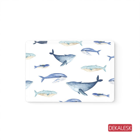 watercolor Whale- MacBook Decal Stickers Skin - DEKALESK