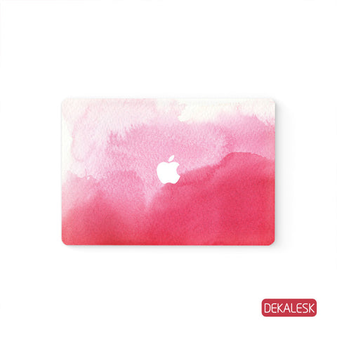 WaterColor Pink  - MacBook Decal Air Skin Laptop Sticker - DEKALESK