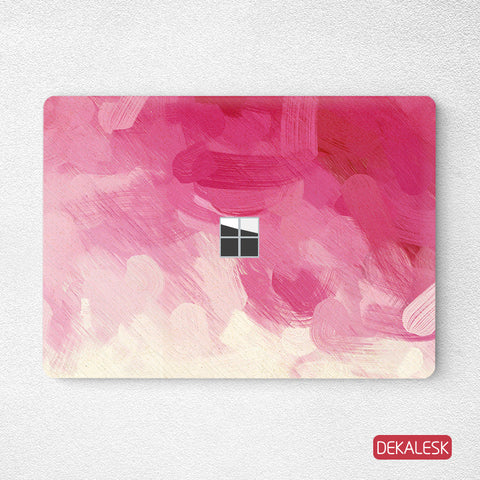 Pink Watercolor Painting- Surface Laptop Top Lid Skin - DEKALESK