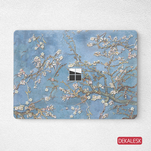 White Pear Flower- Surface Laptop Top Lid Skin - DEKALESK