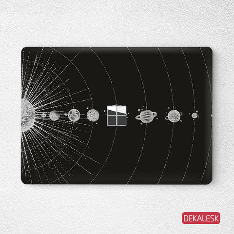 Black Universe- Surface Laptop Top Lid Skin - DEKALESK