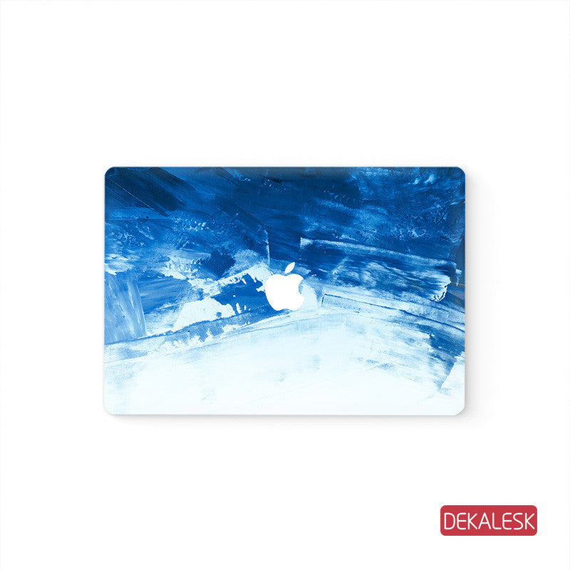 Blue - MacBook Pro Keyboard Stickers Top Skin Full Bottom Decal Protector - DEKALESK