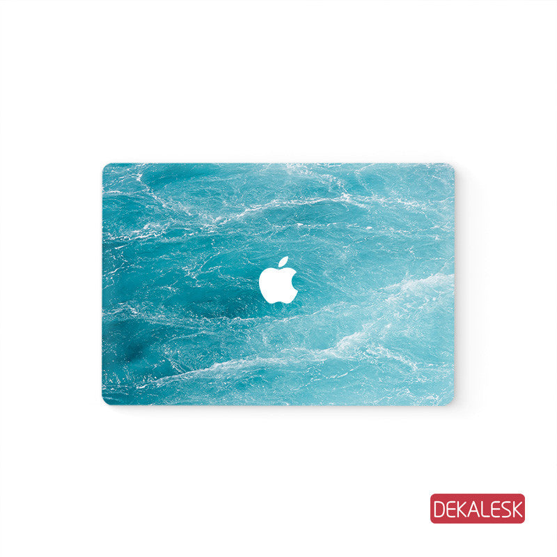 Green Marble - MacBook Air Stickers Mac Top decal  Front Cover Skin - DEKALESK