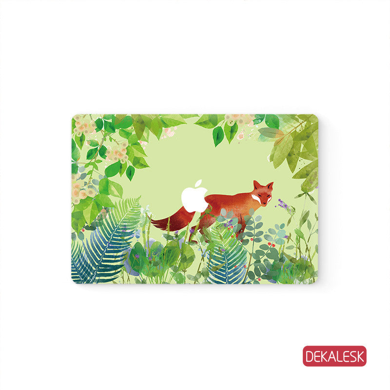 Flower Fox - MacBook Skin Decal Sticker - DEKALESK