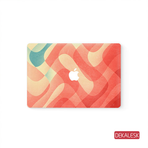Orange - MacBook Pro Keyboard Stickers Top Skin Full Bottom Decal Protector - DEKALESK