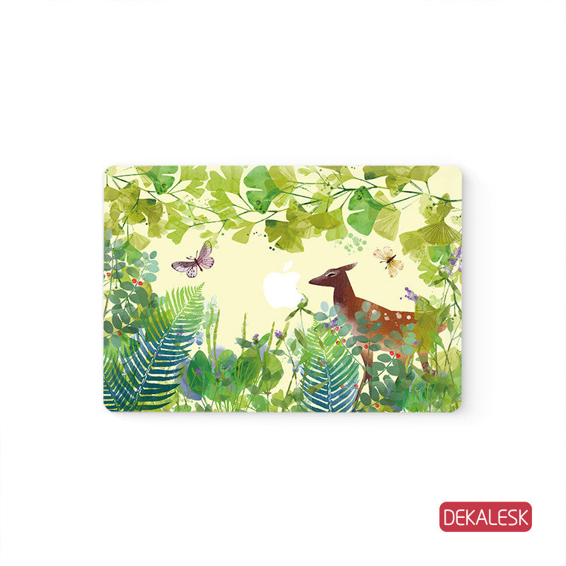 Grass Deer - MacBook Decal Air Laptop Sticker - DEKALESK