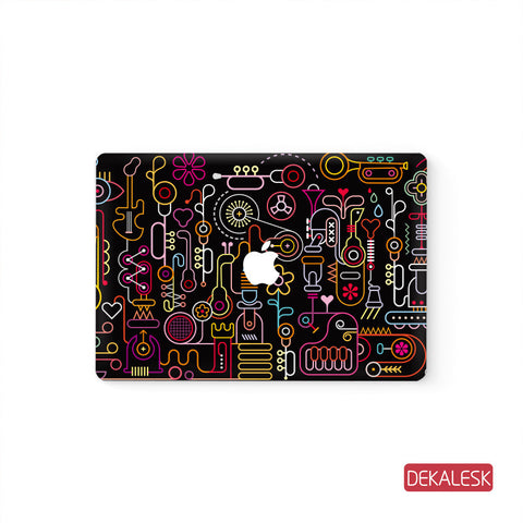 Floral world - MacBook Pro Keyboard Stickers Top Skin Full Bottom Decal Protector - DEKALESK