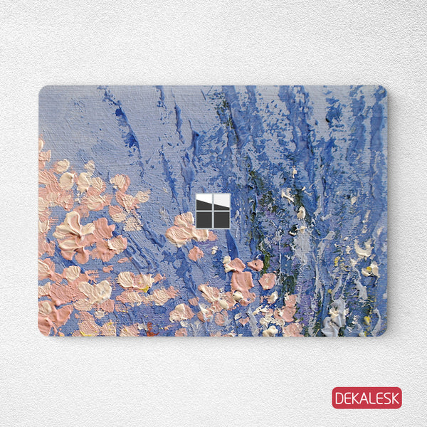 Cherry Blossom lavender- Surface Laptop Top Lid Skin - DEKALESK