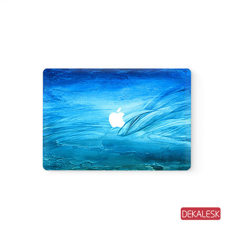 Blue Painting - MacBook Pro Keyboard Stickers Top Skin Full Bottom Decal Protector - DEKALESK