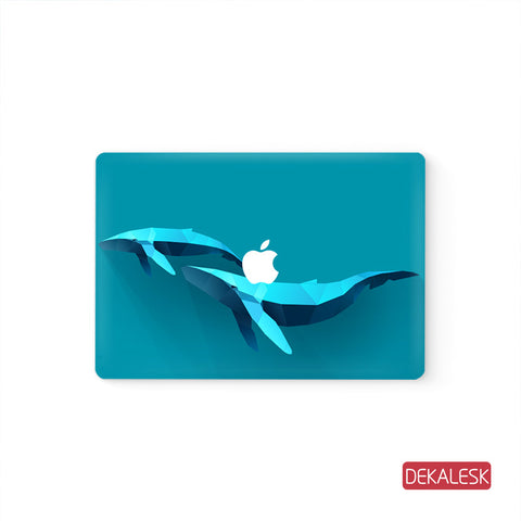 Blue Planet Whale - MacBook Decal Stickers Skin - DEKALESK