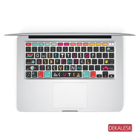 Cute - MacBook Keyboard Stickers - DEKALESK