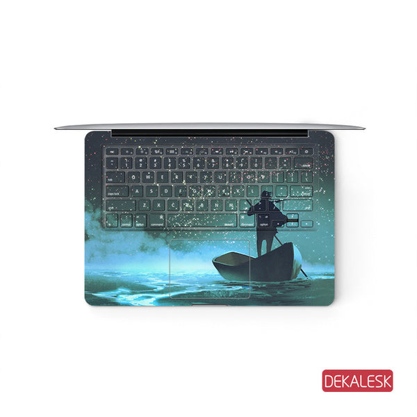 Travelling- MacBook Pro Keyboard Stickers Top Skin Full Bottom Decal Protector - DEKALESK