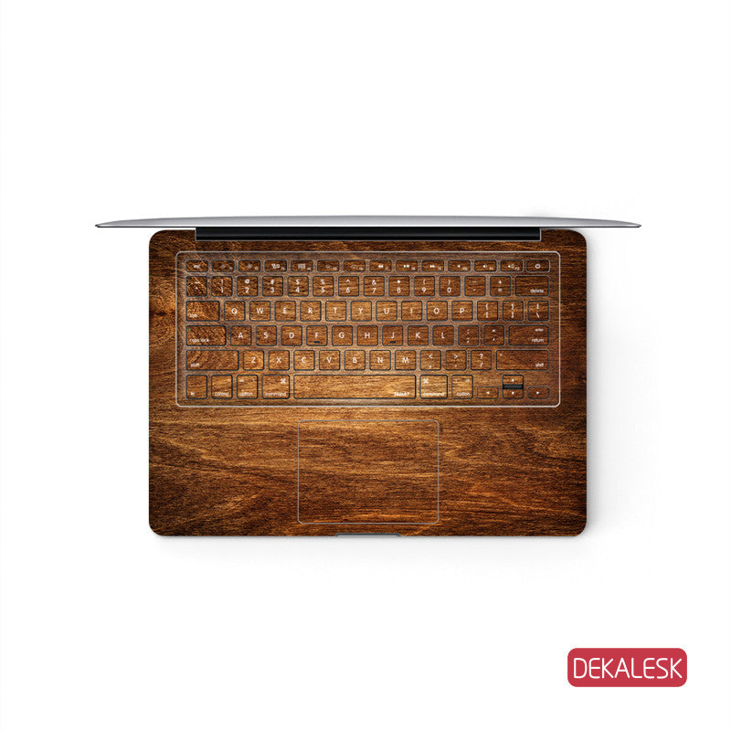 Rosewood Grain - MacBook Keyboard Skin - DEKALESK