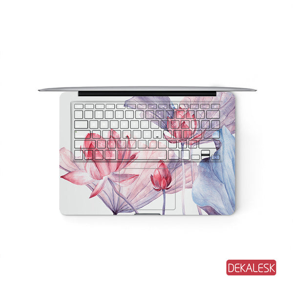 Summer - MacBook Pro Keyboard Stickers Top Skin Full Bottom Decal Protector - DEKALESK