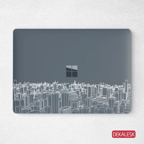 CityView-Surface Laptop Top Lid Skin - DEKALESK