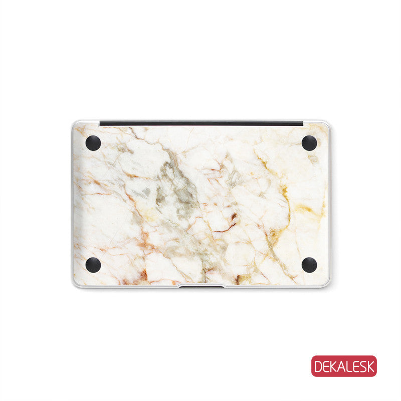 Orange Marble - MacBook Bottom Skin - DEKALESK