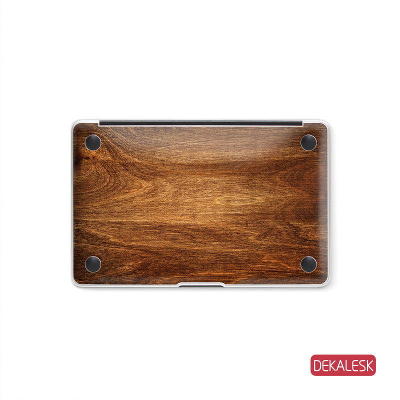 Rosewood Grain - MacBook Bottom Skin - DEKALESK