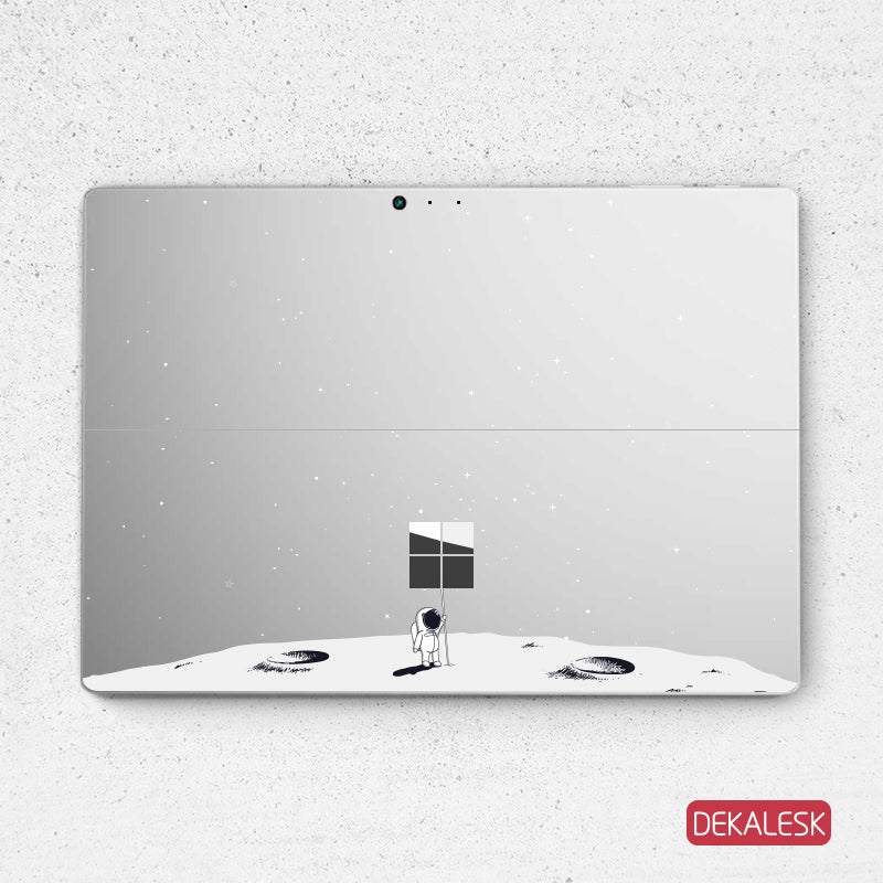 Flag on the Moon - Surface Pro 7 Skin Microsoft Surface Pro 6 Flag Full Transparent Decal Surface Pro 4 sticker Laptop back cover skin surface decal sticker - DEKALESK