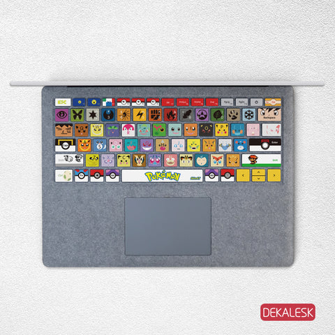 Pokemon- Surface Laptop/surface Book/Surface Pro Keyboard Keys Skin - DEKALESK