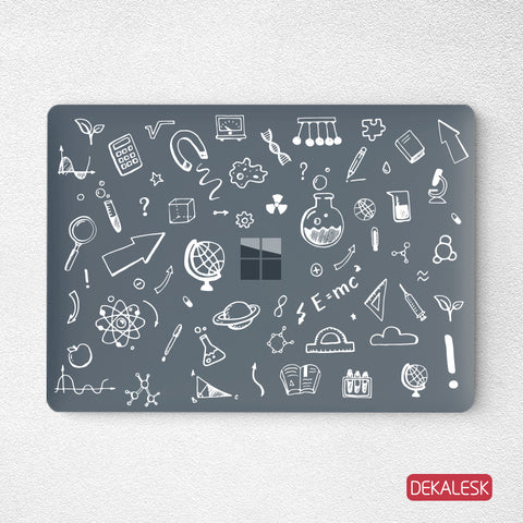 Science-Surface Laptop Top Lid Skin - DEKALESK