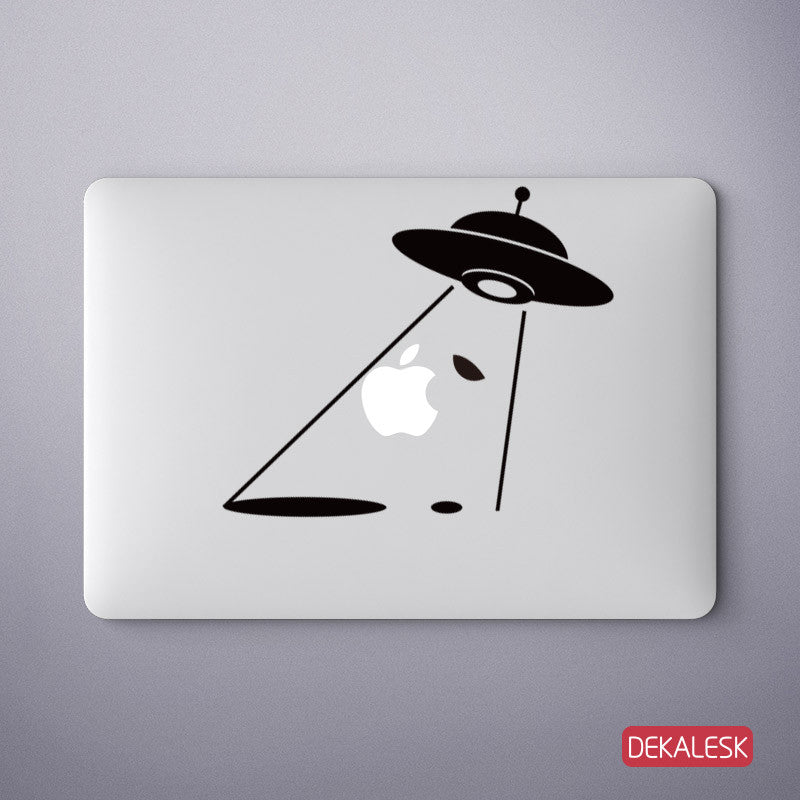 UFO Light Beam - MacBook Decal - DEKALESK