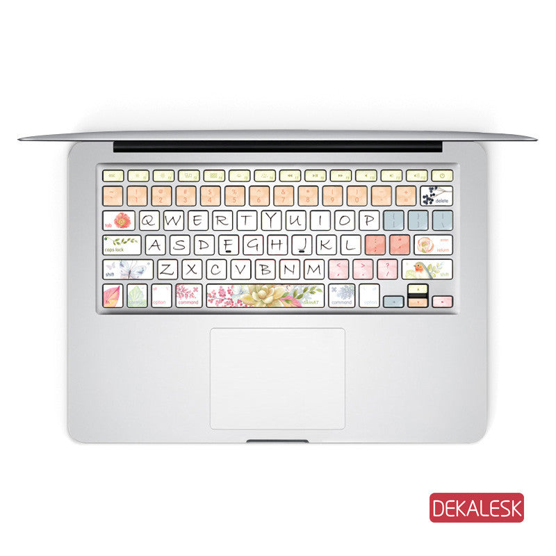 Spring - MacBook Keyboard Stickers - DEKALESK