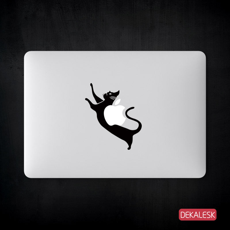 Scratching Cat - MacBook Decal - DEKALESK