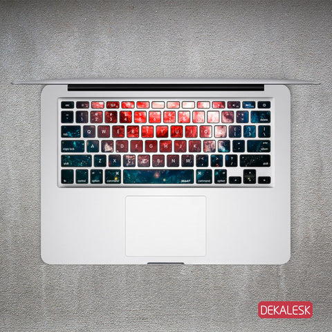 Rotating Universe - MacBook Keyboard Stickers - DEKALESK