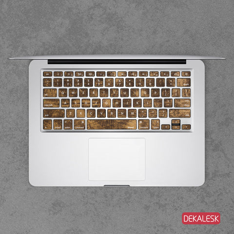 Copper - MacBook Keyboard Stickers - DEKALESK