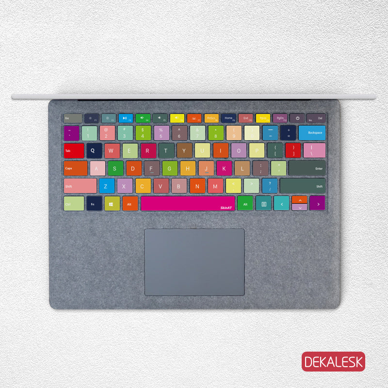Colorful Blocks- Surface Laptop/surface Book/Surface Pro Keyboard Keys Skin - DEKALESK