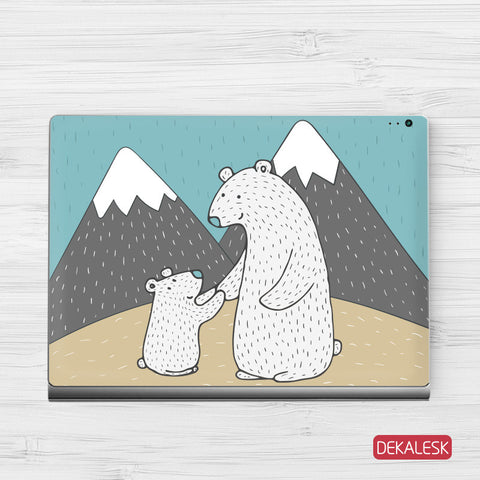 Polar Bears - Surface Book Skin - DEKALESK
