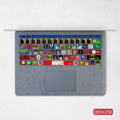 Heroes- Surface Laptop/surface Book/Surface Pro Keyboard Keys Skin - DEKALESK