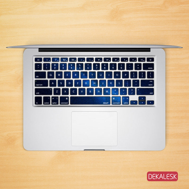 Blue Space - MacBook Keyboard Stickers - DEKALESK