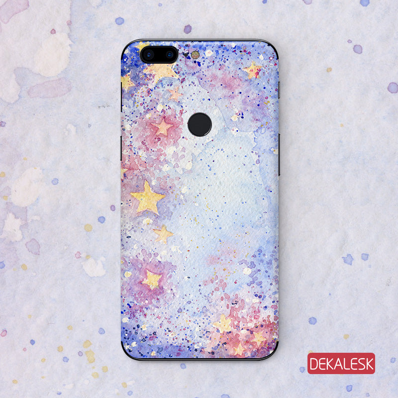Purple Stars - onePlus 5/onePlus 5T Phone sticker - DEKALESK