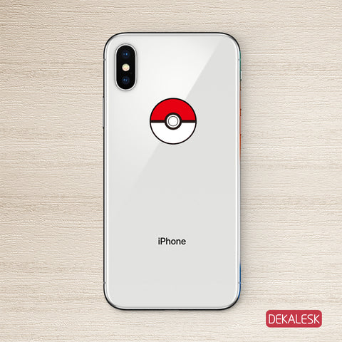 Red Ball iPhone X Decal Sticker iPhone 6/6S Skin iPhone 7/ iPhone 7 Plus / iPhone 8/ iPhone 8 Plus - DEKALESK