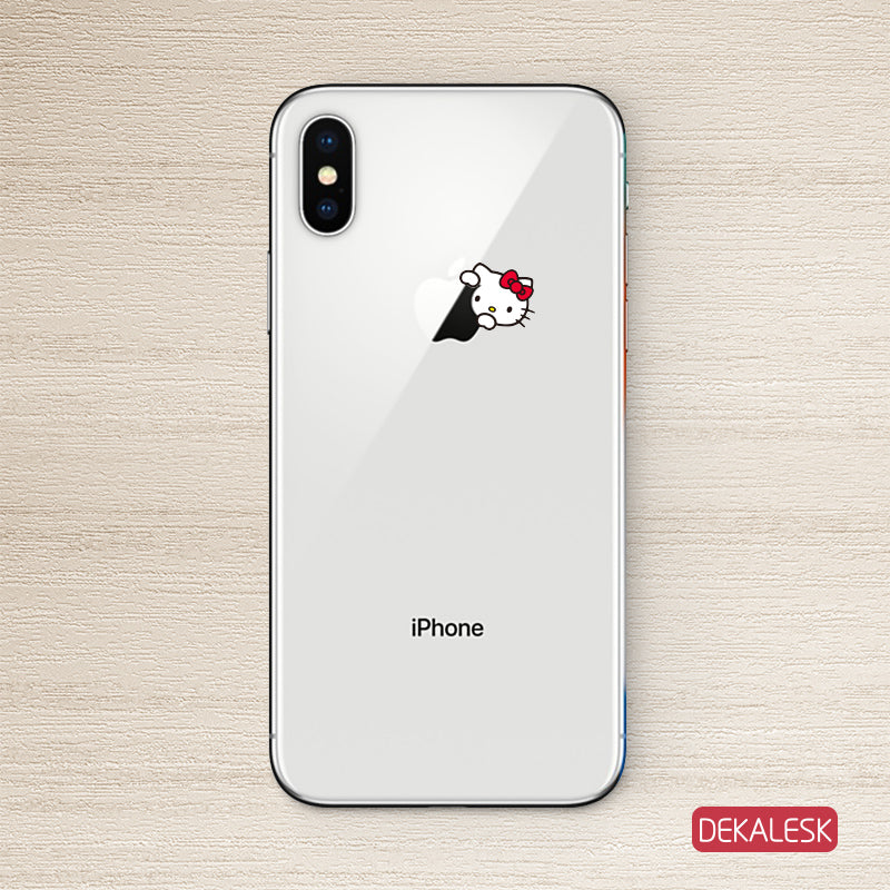 Kitty iPhone X Decal Sticker iPhone 6/6S Skin iPhone 7/ iPhone 7 Plus / iPhone 8/ iPhone 8 Plus - DEKALESK