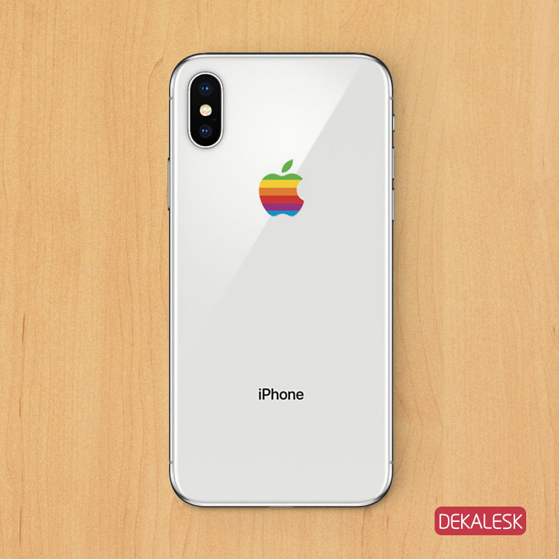 Apple logo- iPhone X/XR iPhone 8 iPhone 8 plus iPhone 6/7 Transparent Skin - DEKALESK