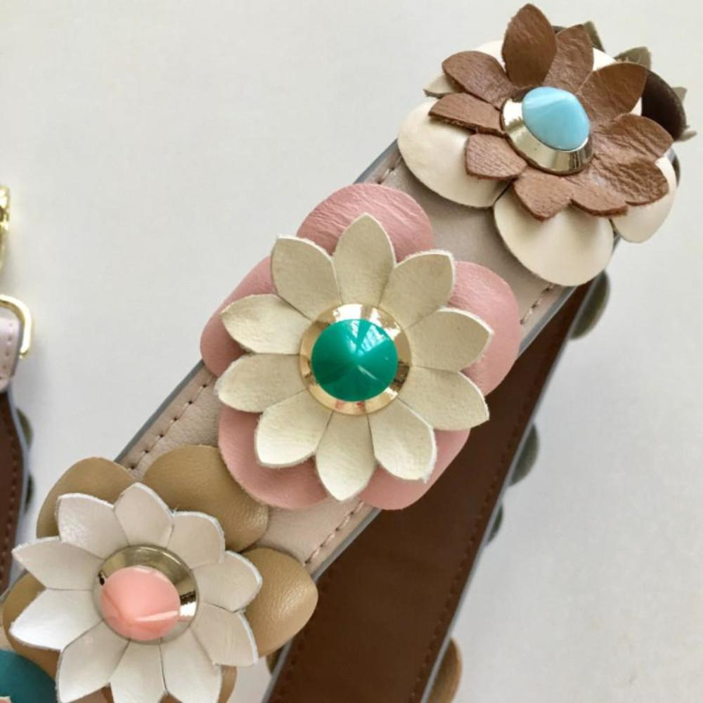 Flower Embellished Bag Strap