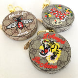 Embroidered Animals Zippy Coin Purse Key Holder
