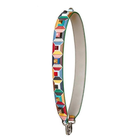 Snakeskin Multicolor Flower Strap