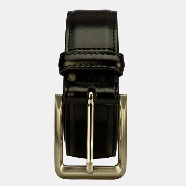 Men Genuine Leather Dress Belt with Single Prong Buckle | Finelaer