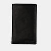 Finelaer Men Black leather Coat Bifold Long Wallet