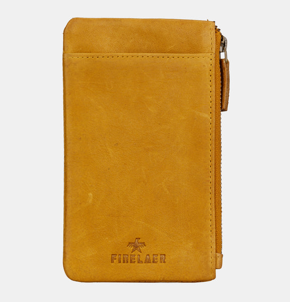 Finelaer Soft Leather iPhone 7/8 Mobile Case Wallet Mustard