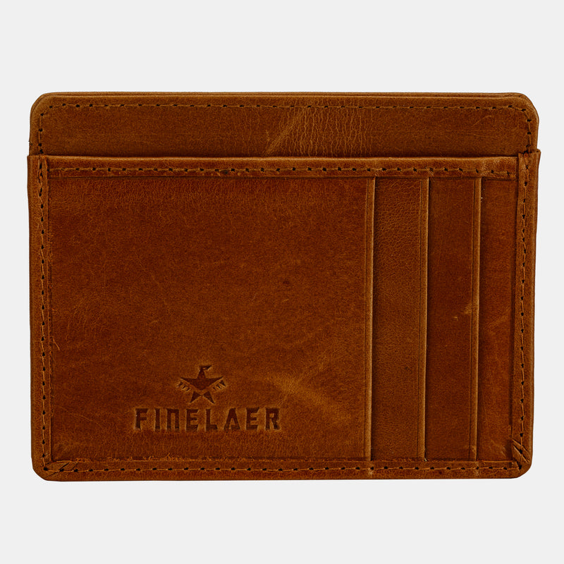 Slim Minimalist Front Pocket RFID Blocking Leather Wallets for Men Women | Finelaer