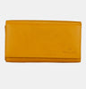 Finelaer Women Yellow Leather Clutch Purse Envelope Wallet